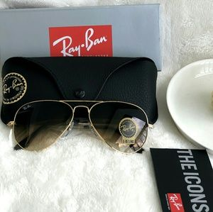 GRADIENT BROWN RAY-BAN AVIATOR 100% AUTHENTIC